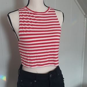 Aerie striped crop top